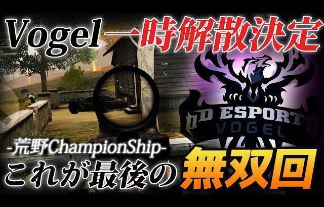 【荒野行動】Vogel一時的に解散決定…ChampionShipラストで魅せた意地の無双回をご覧ください(ふぇいたん)