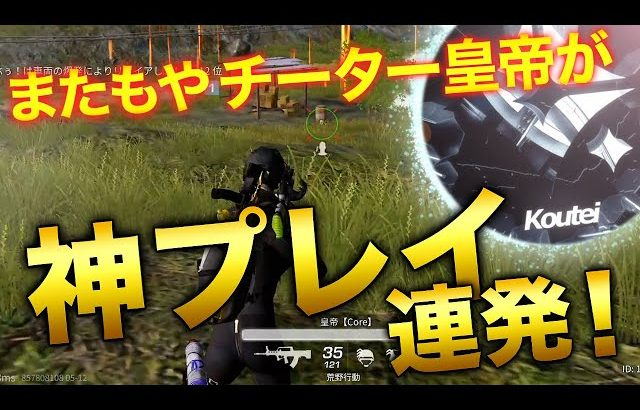【荒野行動】またチーター皇帝が神プレイ連発!!(芝刈り機〆夢幻)